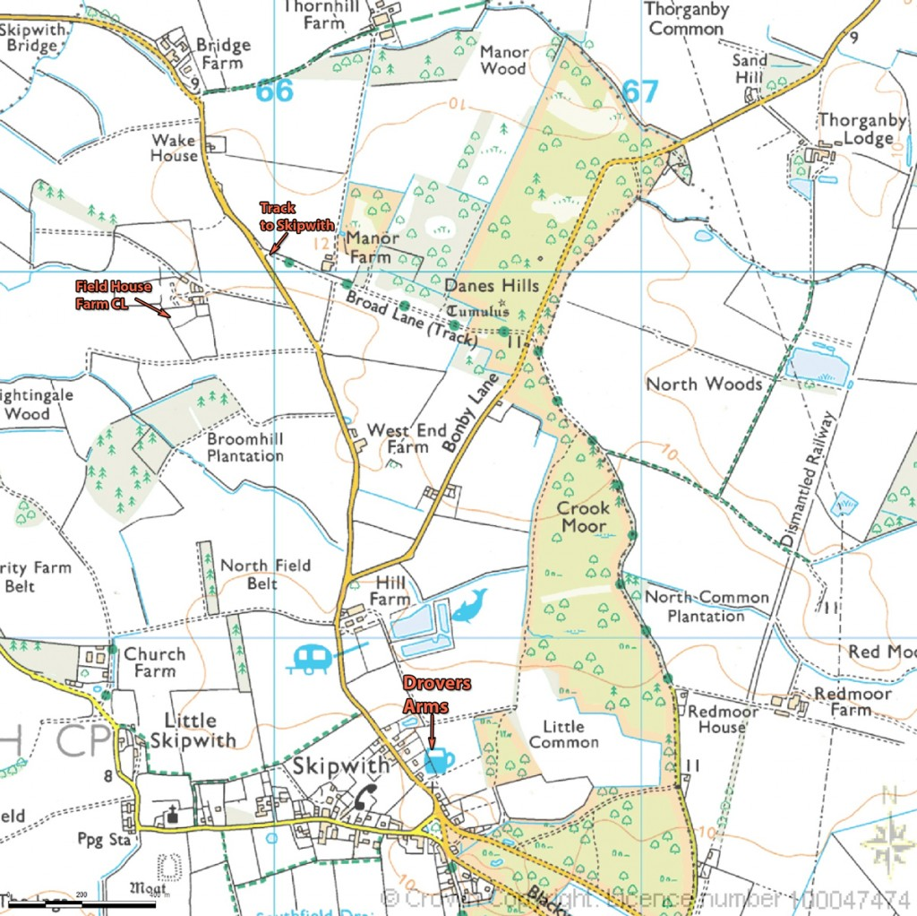 Image showing the path to Skipwith