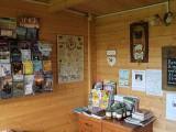 Image showing leaflets in the log cabin