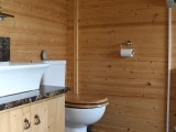 Image showing the toilet and basin in the cabin